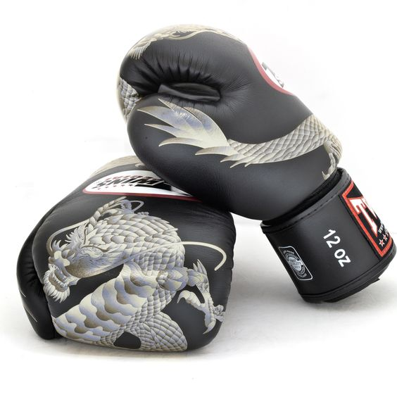 Shiv Naresh Teens Boxing Gloves 12oz: Twins Special Fancy Boxing Gloves Chinese Dragon FBGV-23S