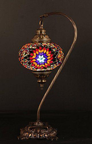 Turkish Table Lamp: Table Lamp,Swan neck,Arabian Mosaic Lamps, Moroccan Lantern, Chandelier, Turkish,Lighting