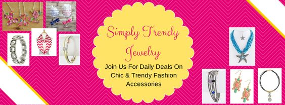 Do you love trendy accessories, but hate spending a lot for them, then Simply Trendy Jewelry Private Sales is just for you!  Our daily deals feature below retail prices on the latest styles.  Stop by daily, as each group of deals only stays up for one day each.