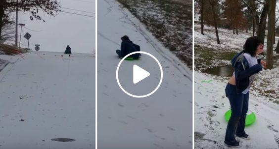 Deslizando Na Neve, o Que Poderia Correr Mal?!