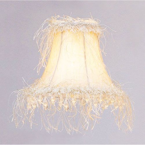 Qty 2 Livex Lighting S106 Silk Bell Clip Chandelier Shade W Corn Silk Fringe Beads In Off Wh In 2020 Chandelier Shades Shabby Chic Lamp Shades Antique Lamp Shades