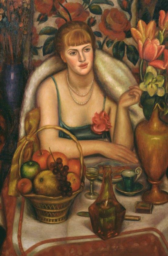 Mark Gertler (British: 1891–1939) - Supper (Portrait of Natalie Denny), 1928