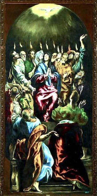 Nouveau Testament  La Pentecôte El Greco (Le Prado, Madrid)