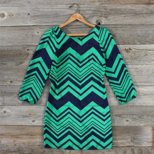 Chevron Dreams Dress, Sweet Women's Country Clothing
