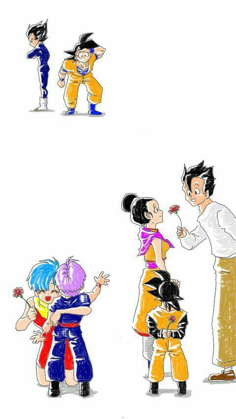 Pin Auf Goku X Milk Y Vegeta X Bulma