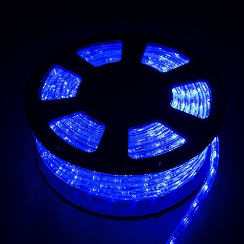 Silverylake 30m 100ft 1080 Leds Rope Light Home In Outdoor Christmas Decorative Party Lighting Blue You Led Rope Lights Christmas Rope Lights Rope Lights