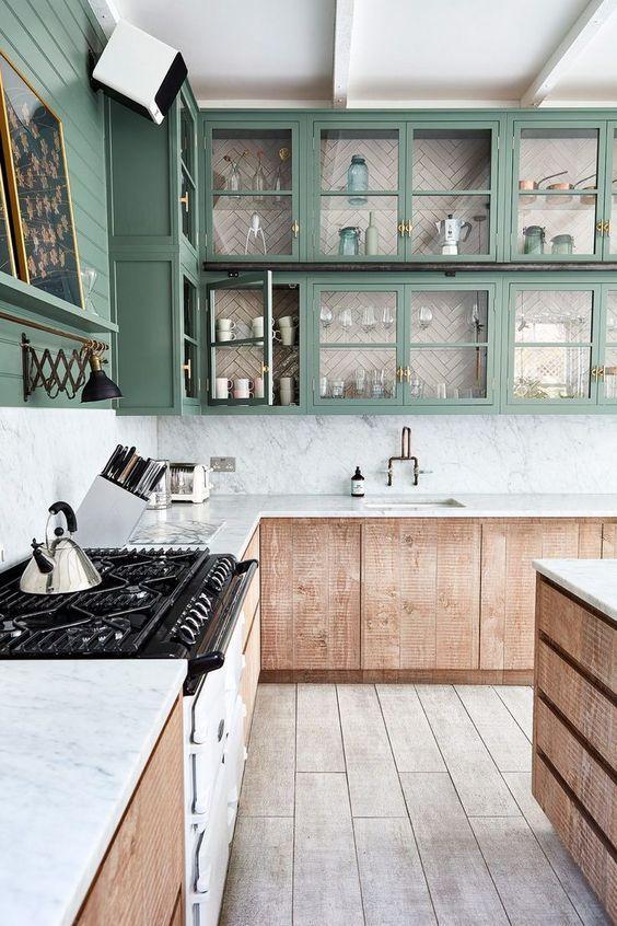 2020 interior decor trends, kitchen decor, kitchen cabinets, interior decor ideas, wooden kitchen, farmhouse kitchen #kitchen