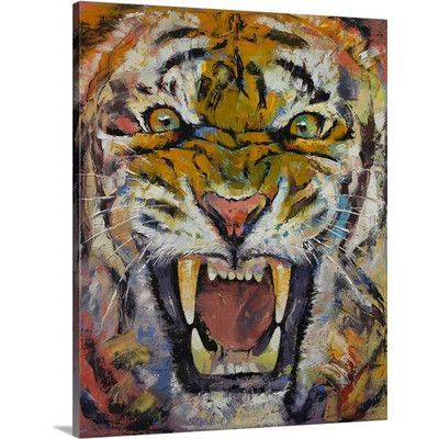 Canvas On Demand Tiger by Michael Creese Graphic Art on Canvas Size: