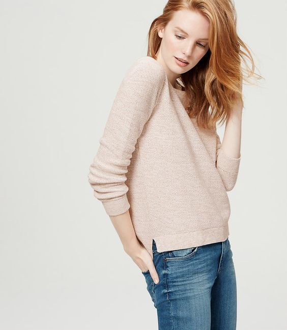 Primary Image of Marled Hi-Lo Sweater