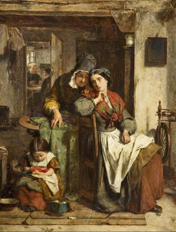 Thomas Faed Pintor britanico-escocés. (Gatehouse of Fleet, Reino Unido 8.6.1926/17.8 1900 Lóndres, Reino Unido). Hermano de John Faed.