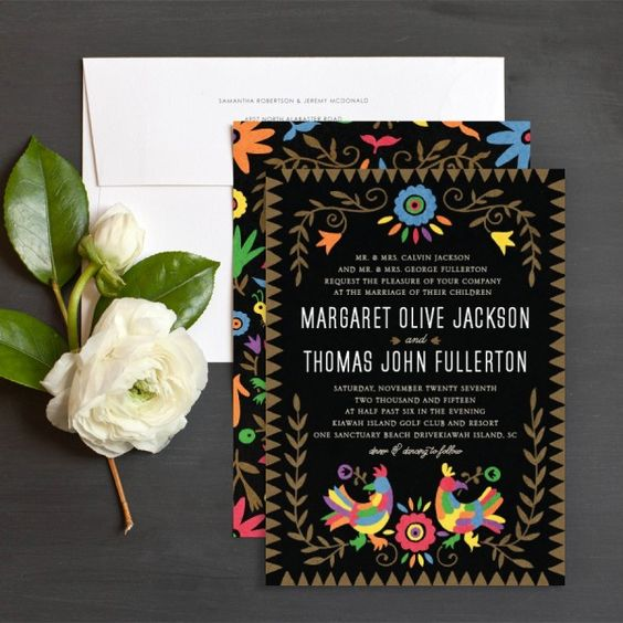 Fiesta Wedding Invitations by Elizabeth Baddely | Elli