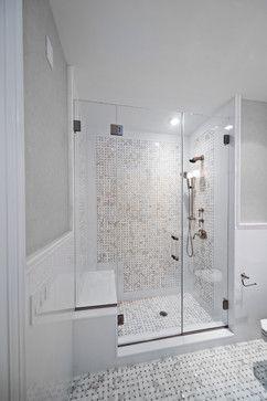 Hamptons Beach House - traditional - bathroom - Shower Door
