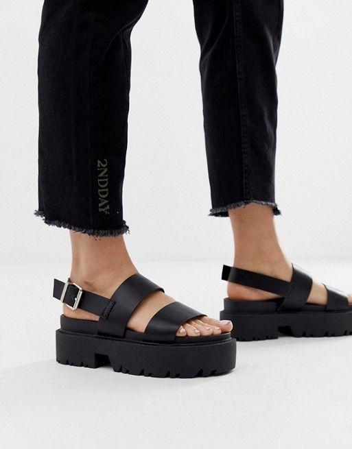 ASOS DESIGN Foolish chunky flat sandals