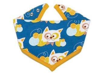 speelse 'Kitty' baby bandana Blafre | kinderen-shop Kleine Zebra