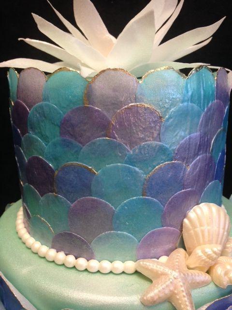 In Decoupage Mermaid Cake Album Birthday Cakes cakepins.com