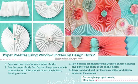 Paper Rosettes from Window Shades