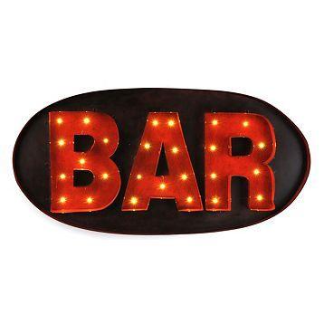 Metal Bar LED Plaque | Kirkland's
