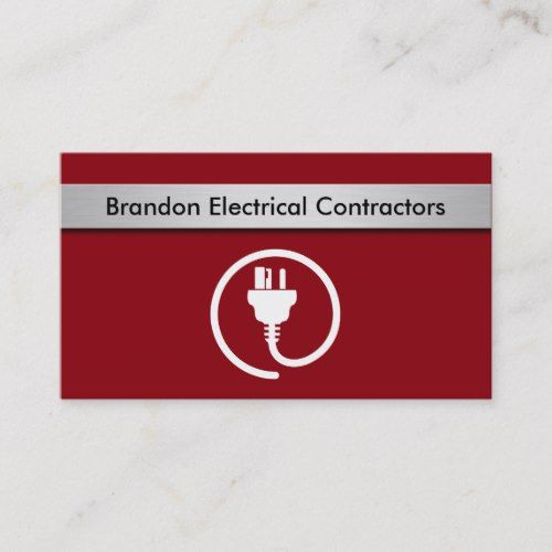 Electrical Contractor Business Cards Business Card Template Design Electricity Contractors