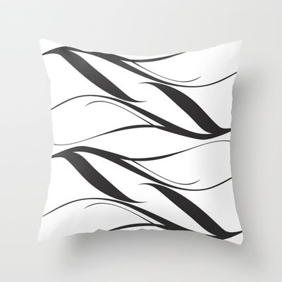 White Black Throw Pillow cover by Ramon Martinez Jr - $20.00
