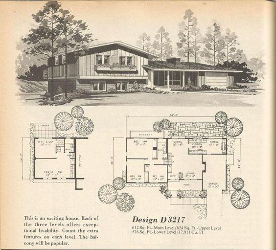 Vintage house plans vintage houses and 1970s on pinterest for 1970s house floor plans