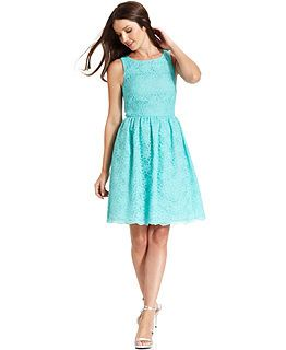 Spring Trend Report A-Line Lace Dresses Look - Womens - Macy's - $179