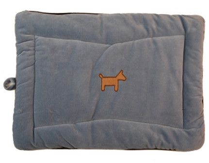 Simply Fido Blue Organic Cotton Crate Mat Dog Bed