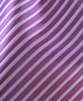 Striped Pocket Square - Purple & Lilac