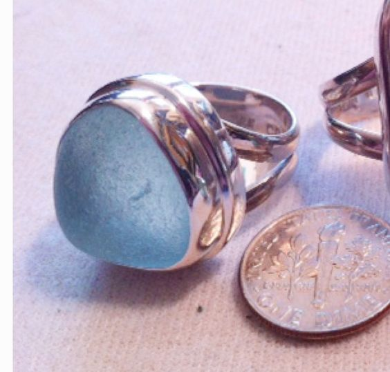 Sea Glass ring!!