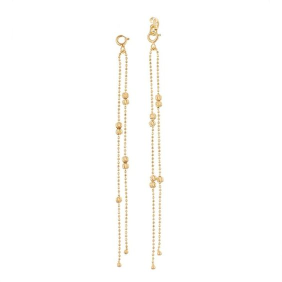 GFG Jewellery - Ellie Earring Jackets/Pendant Gold (£175) ❤ liked on Polyvore featuring jewelry, earrings, gold pendant, yellow gold earrings, 18 karat gold earrings, stud earrings and butterfly earrings