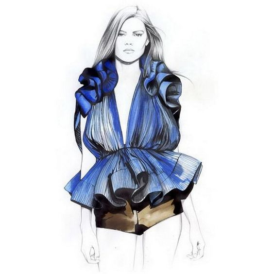 I Love Fashion Sketches ❤ liked on Polyvore featuring sketches, models, dolls, illustrations and people