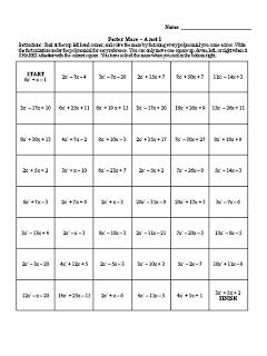 solving linear equations sudoku worksheet answers maze favorite things and equation on. Black Bedroom Furniture Sets. Home Design Ideas