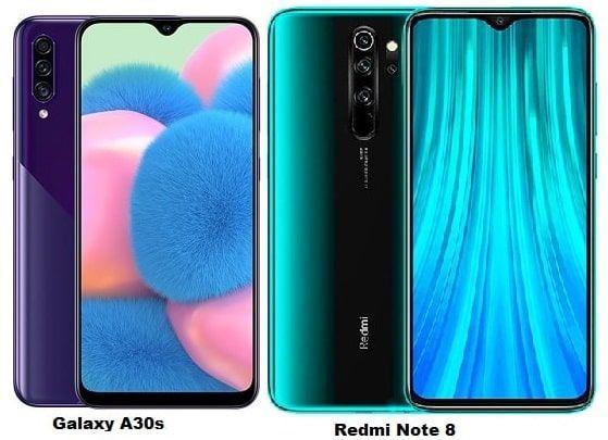 Samsung Galaxy A30s Vs Xiaomi Redmi Note 8 Specs Comparison Samsung Galaxy Galaxy Xiaomi