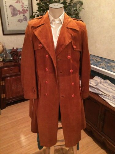 VTG Men's Orange Suede Duster by Members Only Overcoat size 34 36 in Clothing, Shoes & Accessories, Vintage, Men's Vintage Clothing, 1977-89 (Punk, New Wave, 80s), Coats, Jackets, Sweaters | eBay