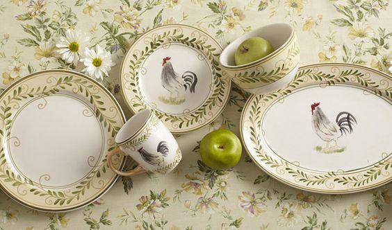 32 Piece Dinnerware Set with Serving Pieces - Pfaltzgraff