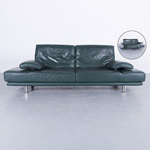 Rolf Benz 2400 Leder Sofa Grun Zweisitzer Couch Funktion Echtleder