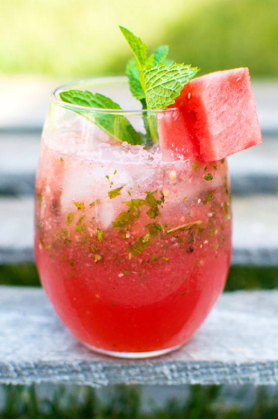 Frozen Watermelon Mojito: A summery and fresh twist on this traditional Cuban cocktail!