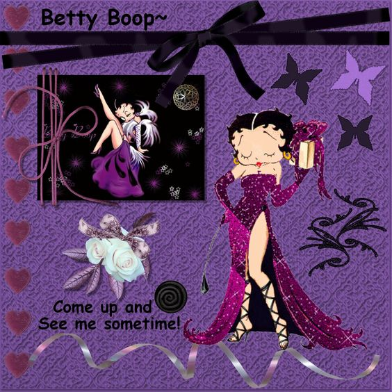 purple betty boop | ... Home Page >> Lavender Passion's Scrapbooks >> Betty Boop! - Page 1