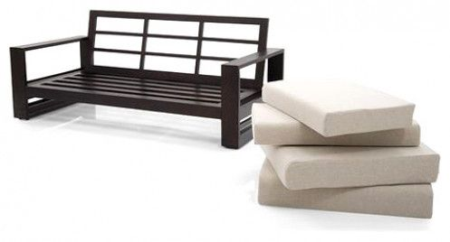 Parsons Wooden Sofa 2 1 Set, Iron Sofa Set Designs