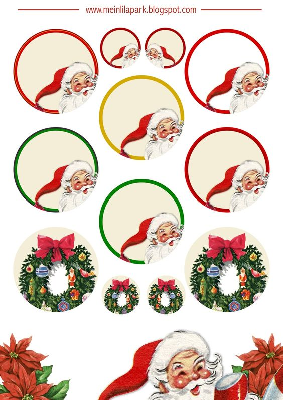 Free printable Christmas clip art - ausdruckbare Weichnachts-Clipart - freebie | MeinLilaPark – DIY printables and downloads