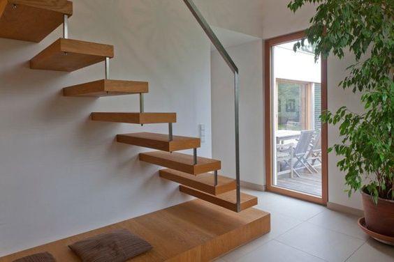 \\ #minimalist #stairs #wood\\ Wohnhaus Royer by: kienesberger schröckenfuchs architektur \ Wels, Austria