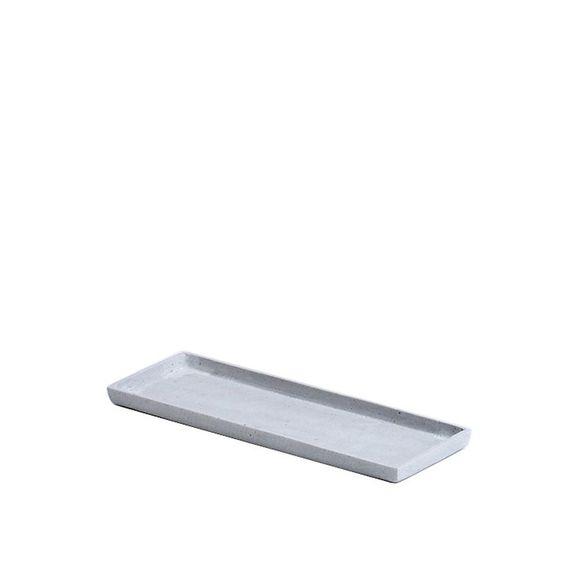Tablett Kunststein grau ca. L:36 cm x B:13 cm