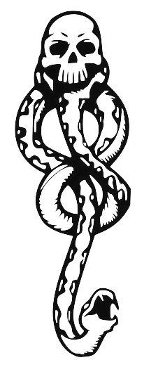 transparent death eater tattoo