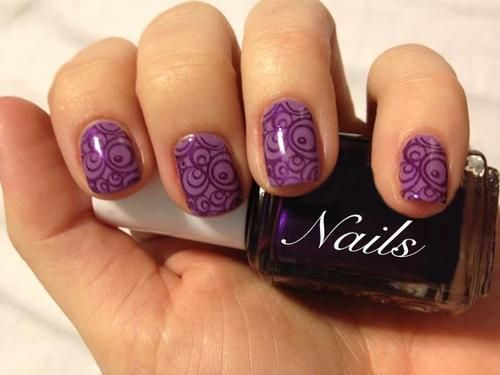 Nail art, purple, nail sticker, pattern