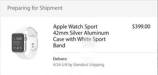 Apple Watch im Versand: erste Bestellungen werden geliefert! - https://apfeleimer.de/2015/04/apple-watch-im-versand-erste-bestellungen-werden-geliefert - ENDLICH: Die Apple Watch wird ausgeliefert. Wer beim Apple Watch Verkaufsstart bzw. Start der Vorbestellung am 10. April 2015 um 09:01 Uhr rechtzeitig am iPhone oder iPad über die Apple Store App  seine Bestellung der neuen Apple Smartwatch abgegeben hatte, dürfte sich in Kürze über die ersten Ve...
