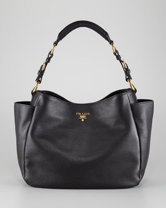 prada saffiano vernice strap bag - Prada Daino Double Pocket Tote Bag, Nero ?Grained calfskin ...