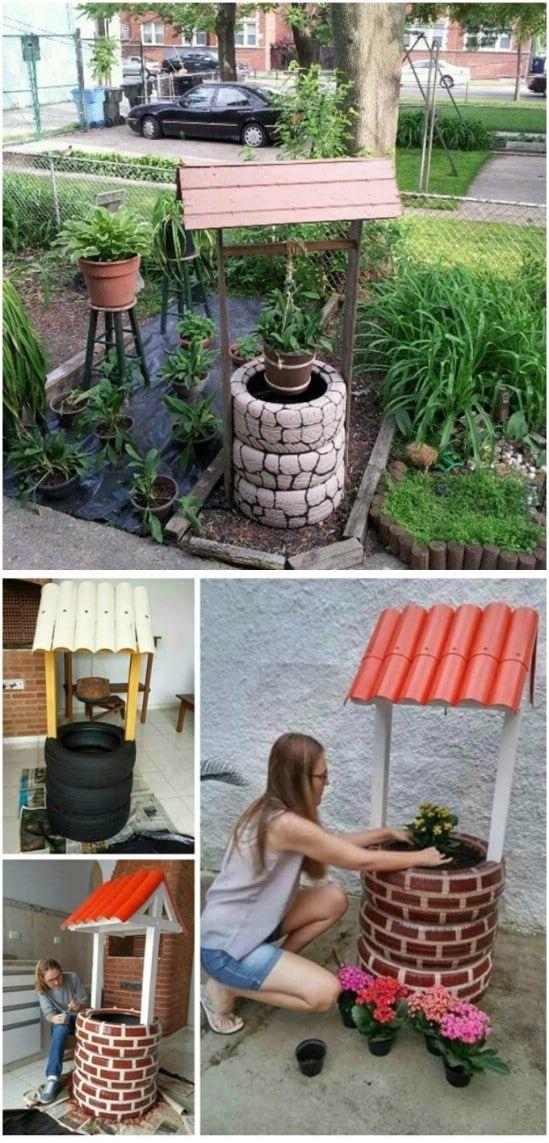 10 Easy Diy Garden Wishing Wells You Can Make Today With Free Plans Diy Garden Wishing Well Garden Diy Yard Decor