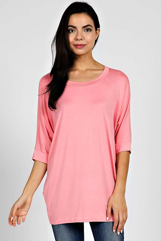 Dolman Tunic in Pink
