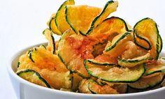 Chips calabacín condimentadas al horno
