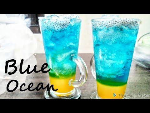 Blue Ocean Drink Minuman Ala Cafe Ala Resto Bisa Berubah Warna Segar Murah Dan Nikmat Youtube Minuman Buah Es Kopi
