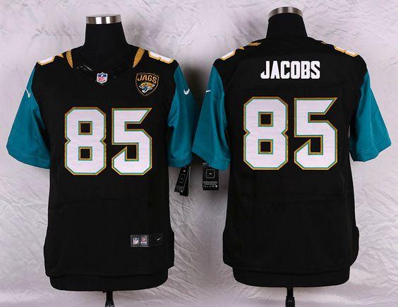 Jacksonville Jaguars #85 Nic Jacobs Black Team Color NFL Nike ...